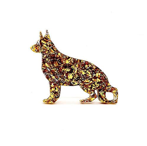 GERMAN SHEPHERD DOG - Chunky Gold Rainbow
