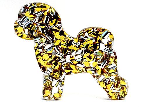 BICHON FRISE - Chunky Yellow Gold & Silver