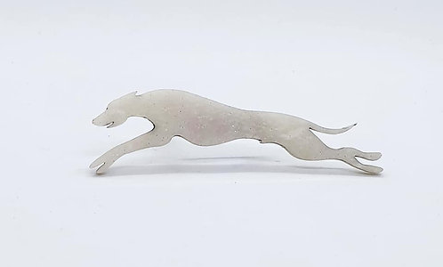 WHIPPET (OUTSTRETCHED) - Shimmer White