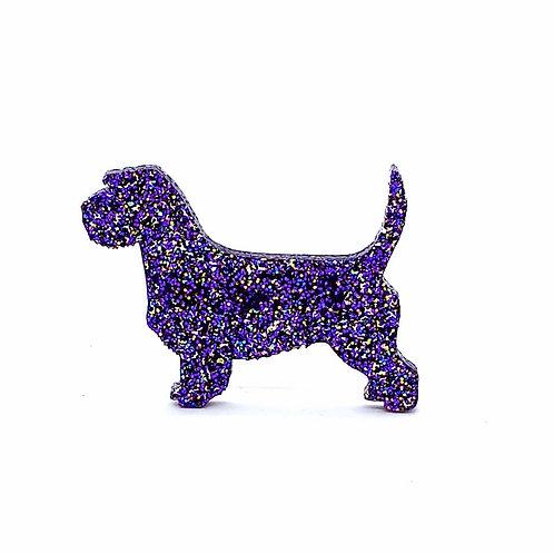 PETIT BASSET GRIFFON VENDEEN - Premium Holographic Purple