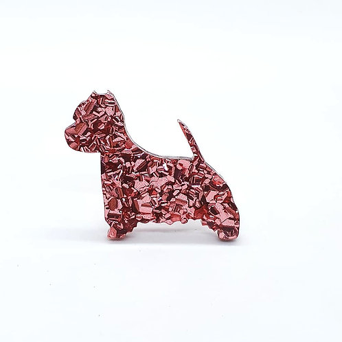WEST HIGHLAND WHITE TERRIER - Chunky Rose Gold