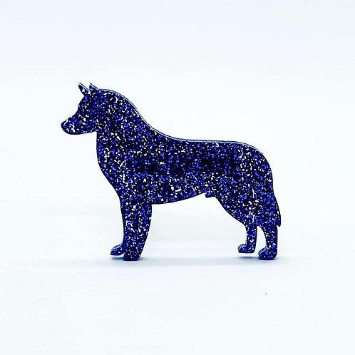 SIBERIAN HUSKY - Premium Royal Blue