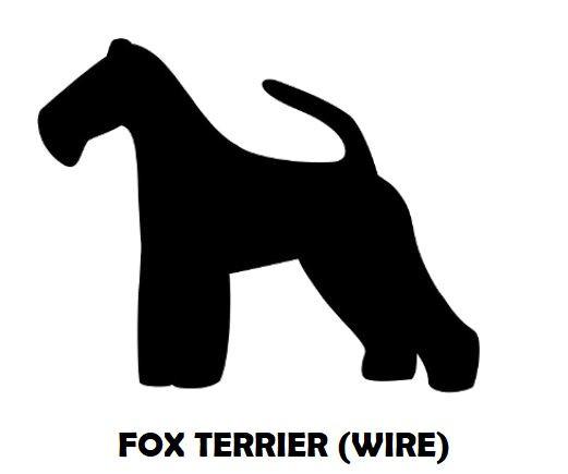 2Silhouette Sample - Fox Terrier (Wire).