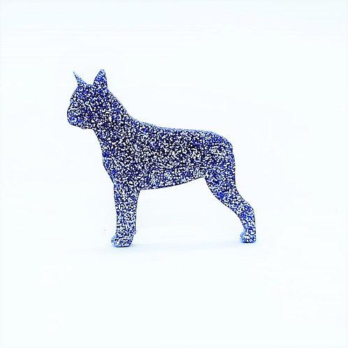 BOSTON TERRIER - Premium Metal Blue