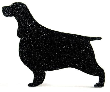 ENGLISH SPRINGER SPANIEL - Standard Black Glitter
