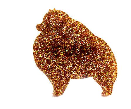 POMERANIAN - Premium Holographic Amber
