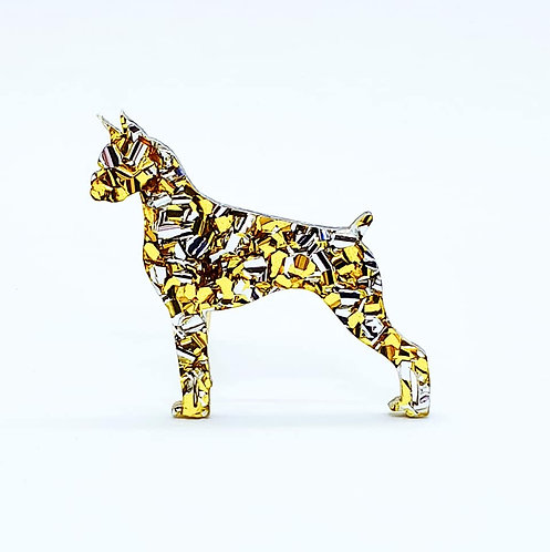 BOXER - Chunky Yellow Gold & Silver