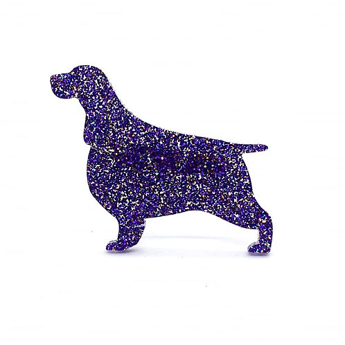 ENGLISH SPRINGER SPANIEL - Premium Holographic Purple
