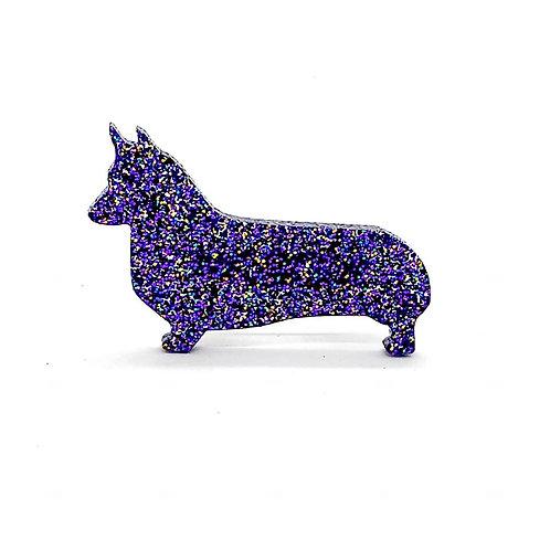 WELSH CORGI (PEMBROKE) - Premium Holographic Purple