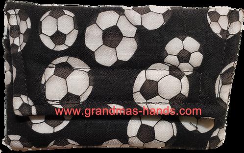 White Soccer Balls - Insulin Pump Pouch