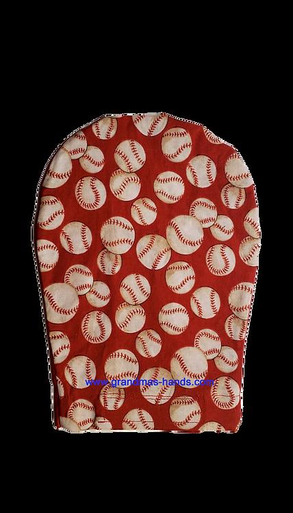 Red Baseball - Adult Ostomy Bag Cover