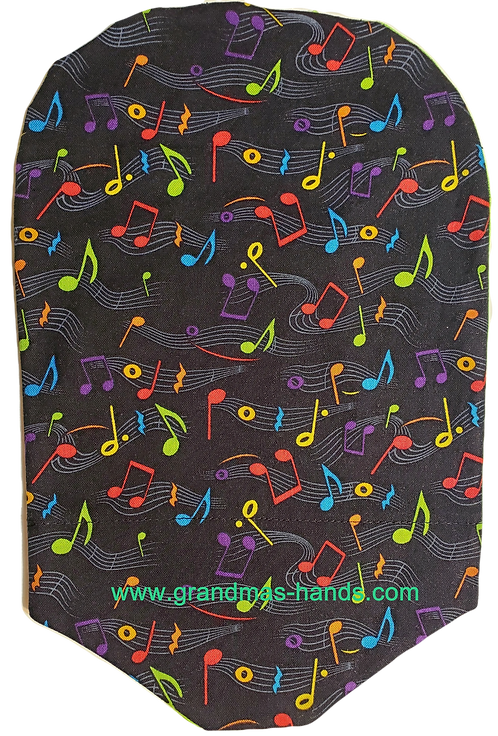 Coloured Music Notes - Adult Urostomy Bag Cover