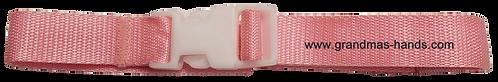 Light Pink Belt with White Buckle - Insulin Pump Pouch Belt