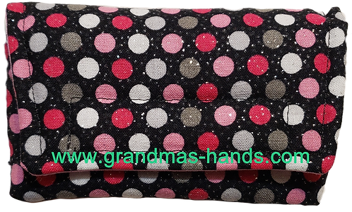 Grey and Pink Spots - Insulin Pump Pouch