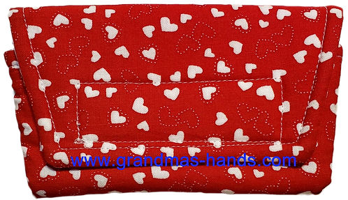 Red and White Hearts - Insulin Pump Pouch