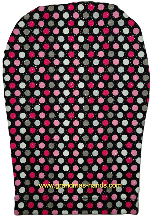 Red and Grey and Pink Dots - Adult Ostomy Bag Cover
