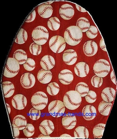 Baseballs on Red - Children's Urostomy Bag Cover