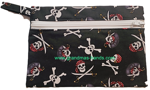 Pirate Skull Diabetic Accessory Carrying Case