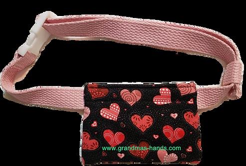 Pink Hearts - Allerject™/Auvi-Q™ Pouch