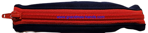 Navy with red zipper  - Stretchy Insulin Pump Pack