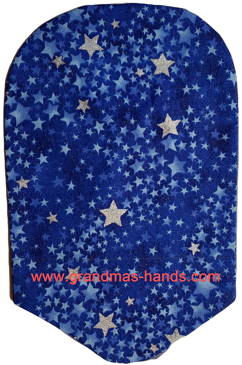 Silver Stars - Adult Urostomy Bag Cover