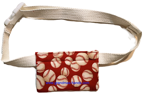 Red Baseballs - Allerject™/Auvi-Q™ Pouch