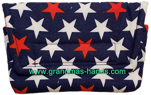 Red and White Stars - Insulin Pump Pouch