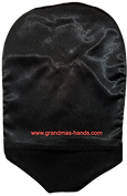Black - Adult Satin Urostomy Bag Cover