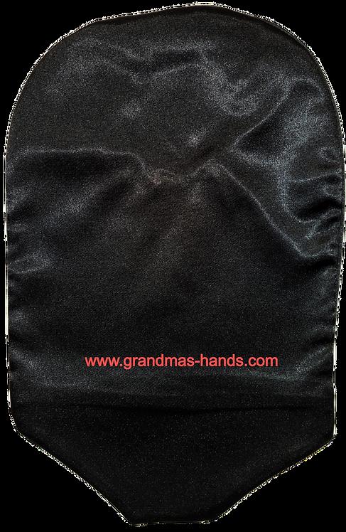 Black - Adult Satin Urostomy Bag Cover