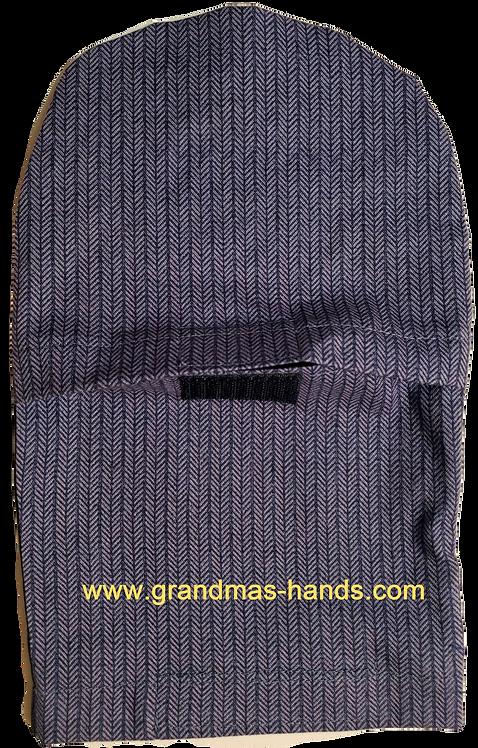Blue Stripes Velcro'd - Adult Peek-a-Boo Ostomy Bag Cover