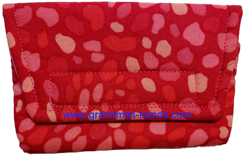 Red and Pink Spot - Insulin Pump Pouch
