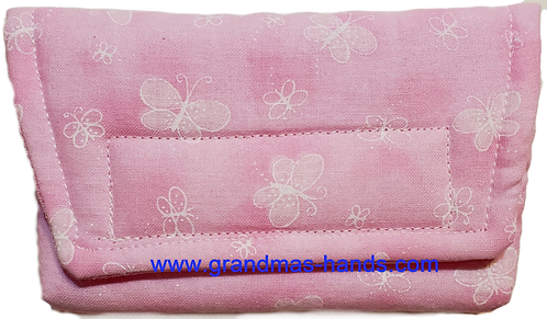 Pink Butterfly  - Insulin Pump Pouch