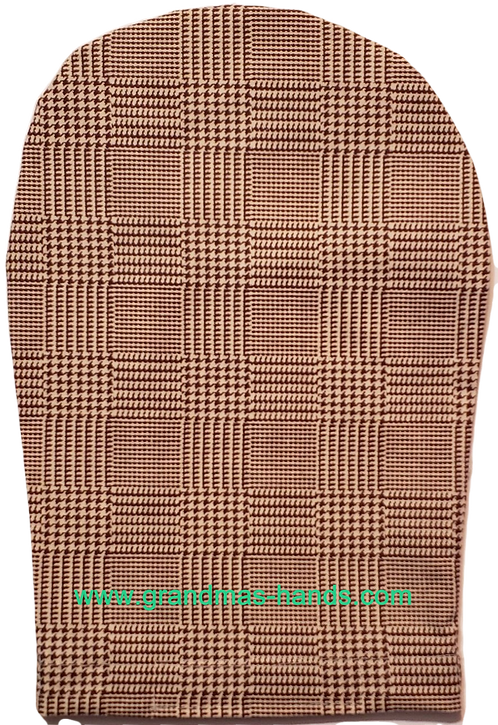 Brown and Beige Squares - Adult Ostomy Bag Cover