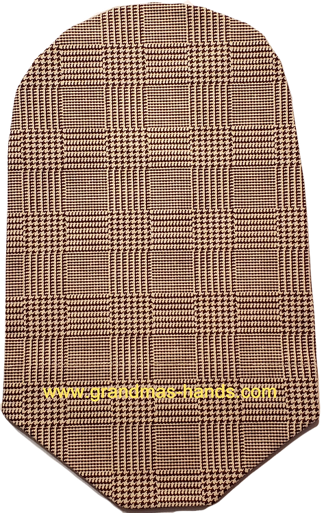 Brown Beige Squares - Adult Urostomy Bag Cover