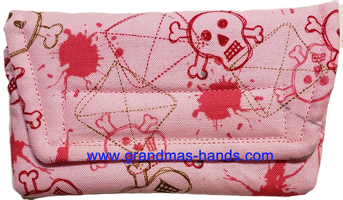 Pink Skull - Insulin Pump Pouch