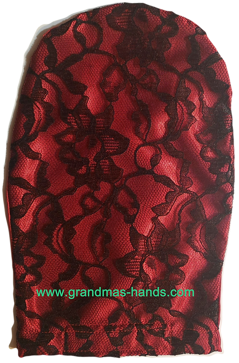 Red Lacy - Adult Satin Ostomy Bag Cover