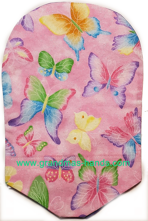 Swallowtails on Pink - Adult Urostomy Bag Cover
