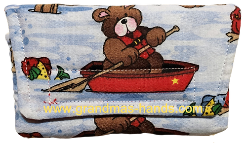 Bear in Boat - Insulin Pump Pouch