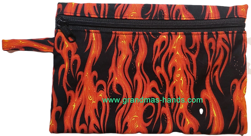 Red Flame Diabetic Accessory Carrying Case