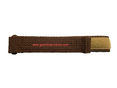 Medium Brown Belt with Velcro Fastener - Insulin Pump Pouch Belt