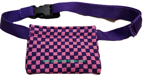 Pink and Purple Checkers - Allerject™/Auvi-Q™ Pouch