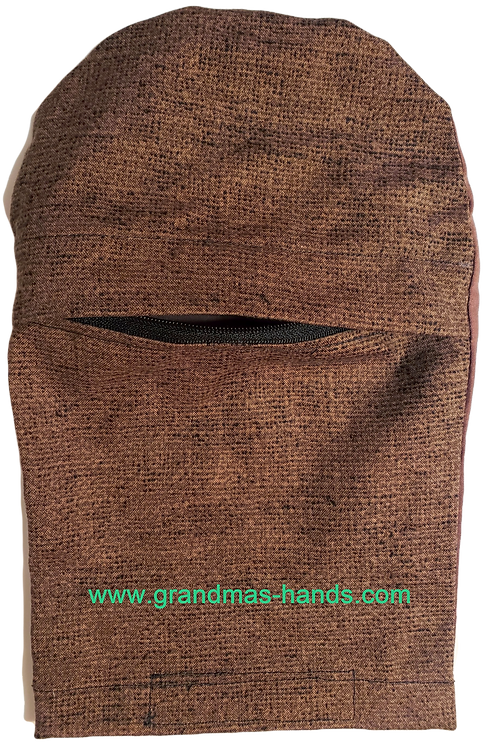 Brown Tones Zippered - Adult Peek-a-Boo Ostomy Bag Cover