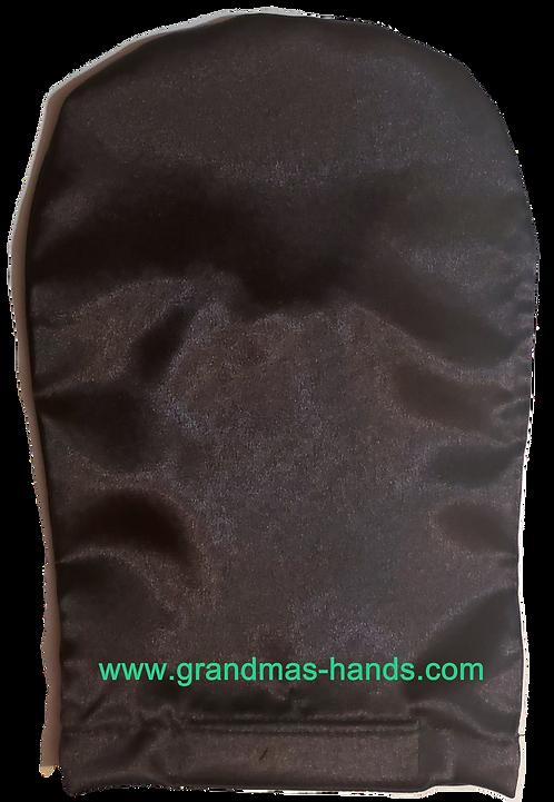 Black - Adult Satin Ostomy Bag Cover