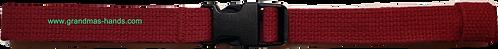 Burgundy Belt with Black Buckle - Insulin Pump Pouch Belt