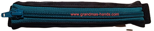 Black with green zipper - Stretchy Insulin Pump Pack
