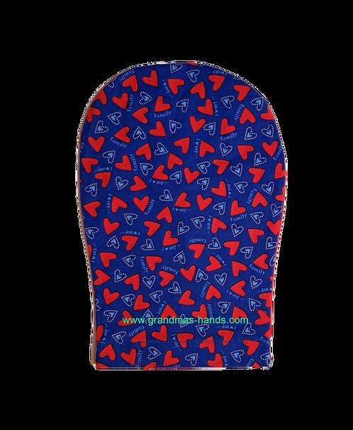 Blue Heart - Adult Ostomy Bag Cover