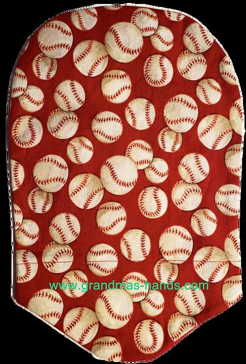 Red Baseball - Adult Urostomy Bag Cover