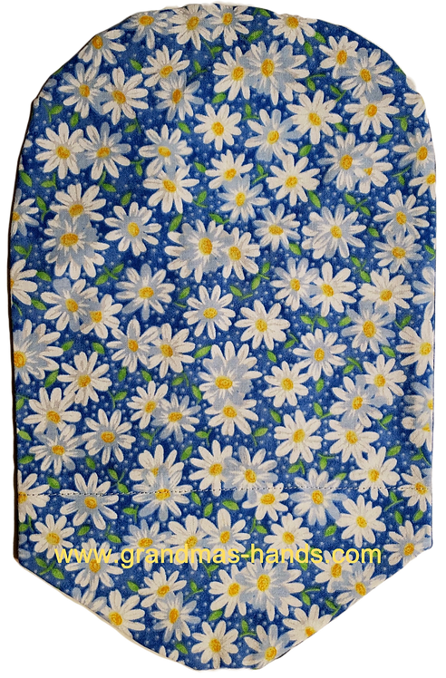 Daisies on Blue - Adult Urostomy Bag Cover