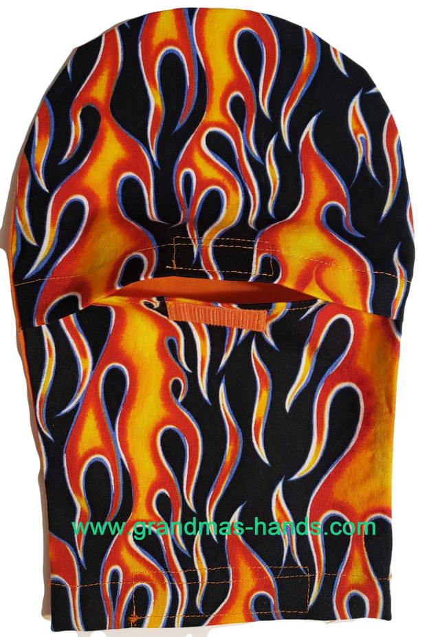 Flame Peek-a-Boo Ostomy Bag Cover