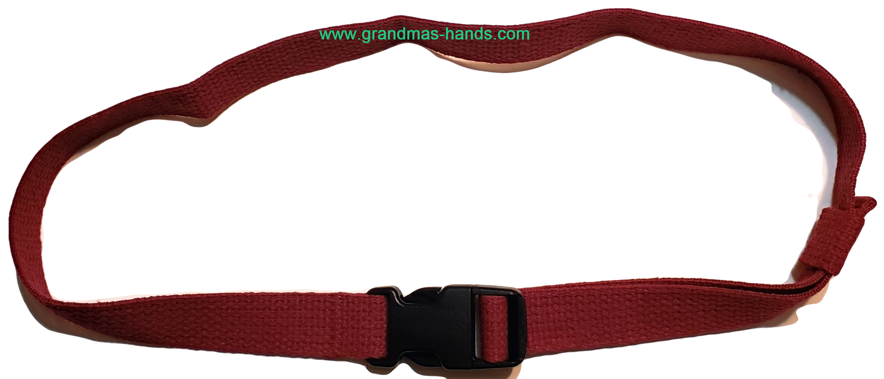 Burgundy Buckled Insulin Pump Pouch Belt